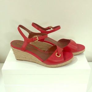 Cole Haan red leather sandals